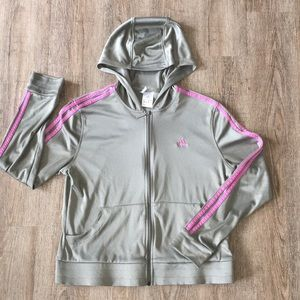 Adorable Olive Adidas hooded jacket
